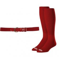Rawlings Baseball Belt & Sock Combo - 2